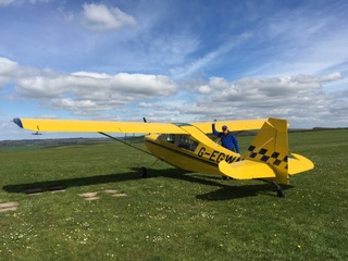 The Citabria that took me from Kemble to Compton Abbas – and back again