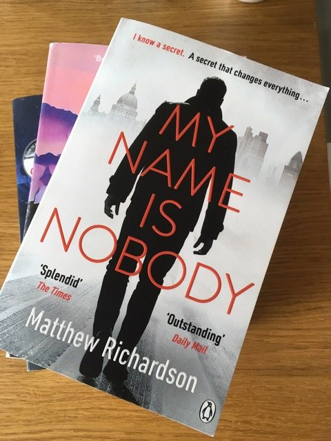 Matthew Richardson's debut, the excellent My Name is Nobody. (Copyright CJ Carver)